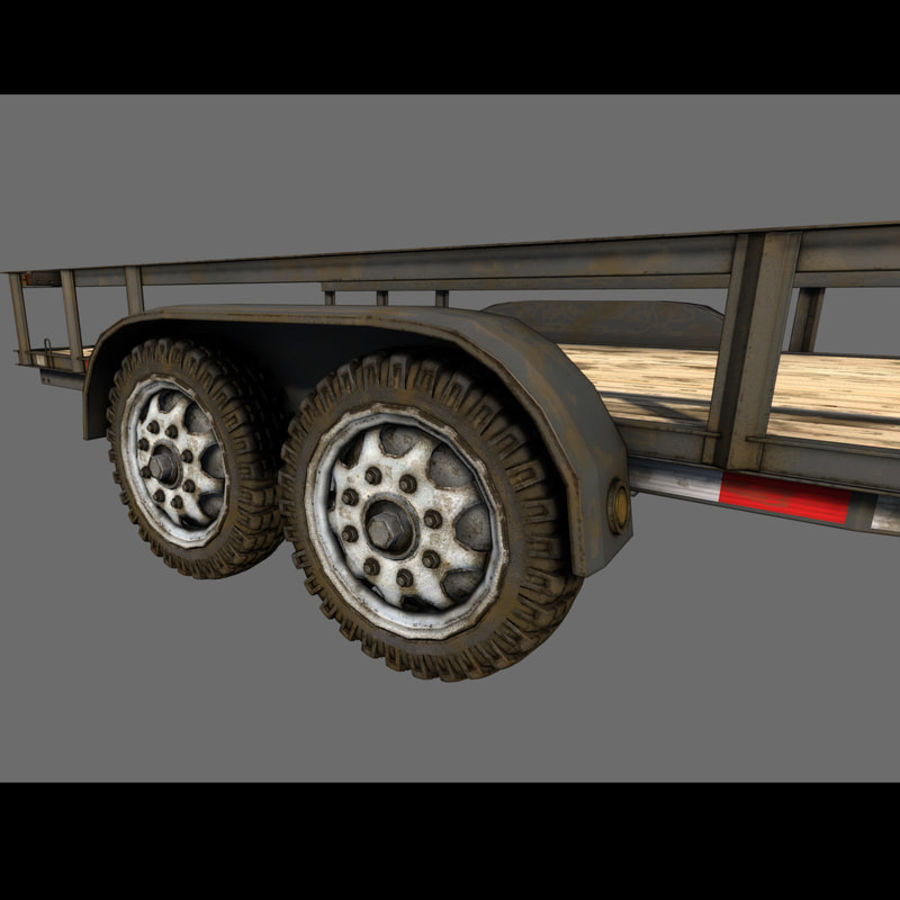 Cargo trailer royalty-free 3d model - Preview no. 29