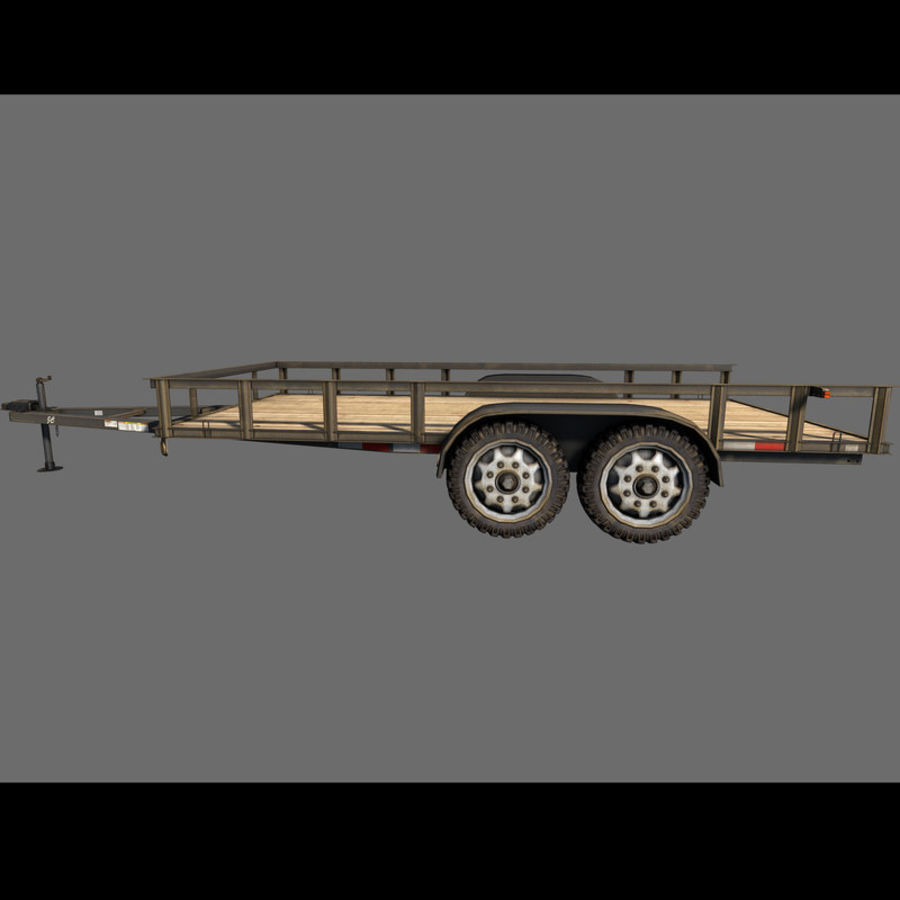 Cargo trailer royalty-free 3d model - Preview no. 24