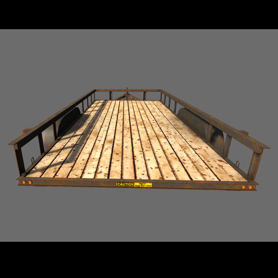 Cargo trailer royalty-free 3d model - Preview no. 16