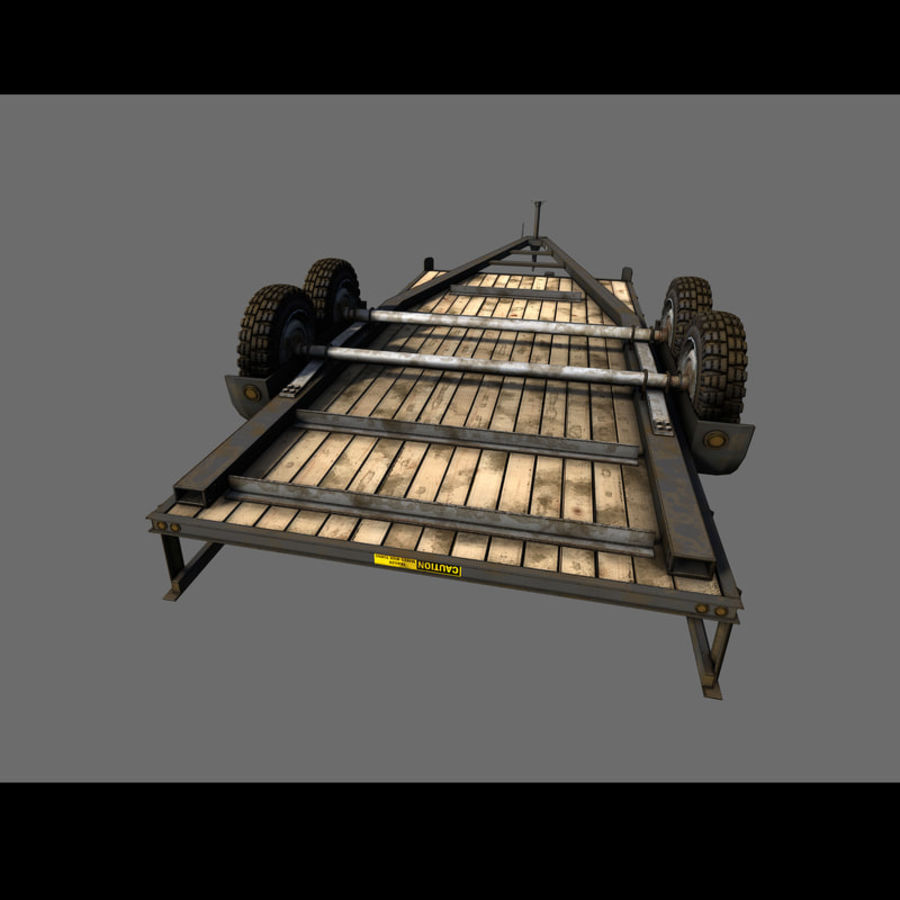 Cargo trailer royalty-free 3d model - Preview no. 33