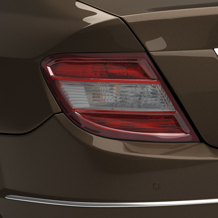 Mercedes C-Class 2008 royalty-free 3d model - Preview no. 10