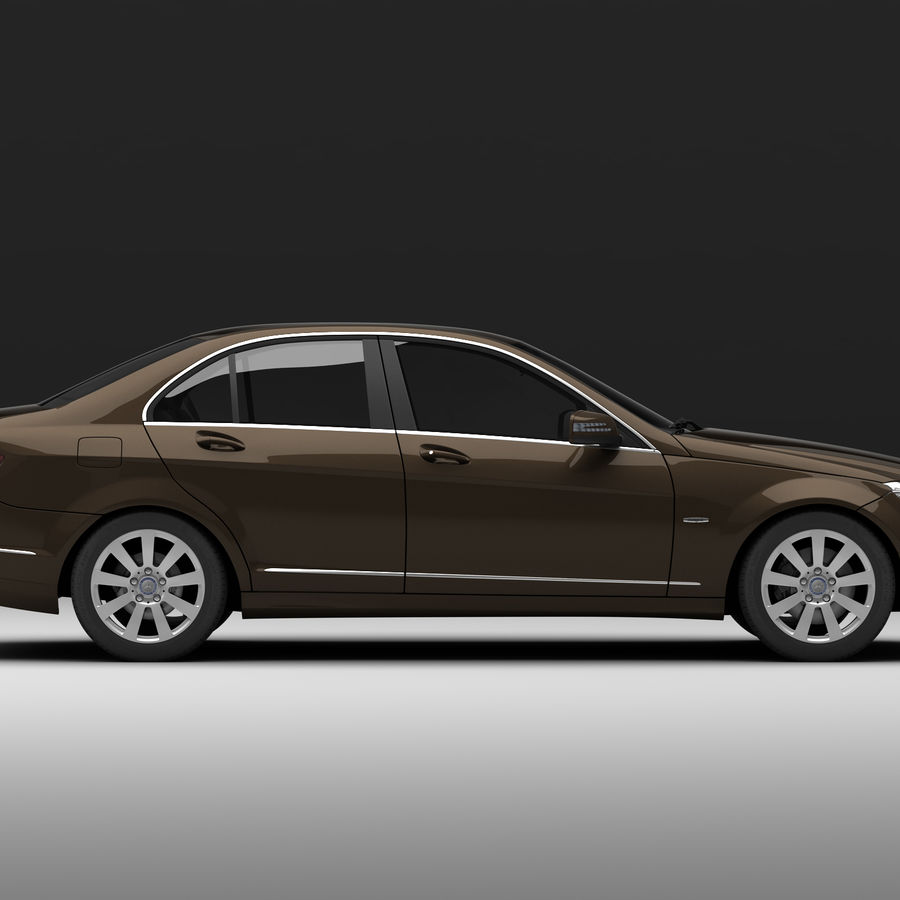 Mercedes C-Class 2008 royalty-free 3d model - Preview no. 6