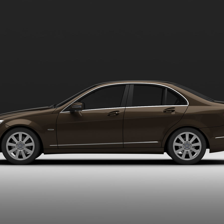 Mercedes C-Class 2008 royalty-free 3d model - Preview no. 5