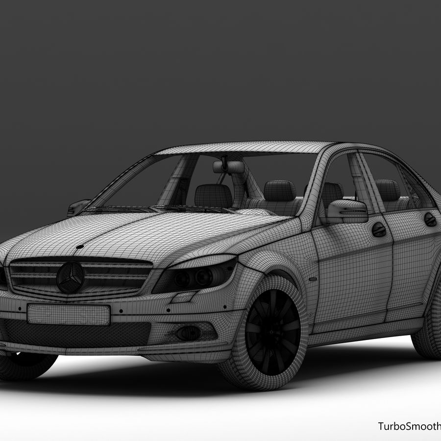 Mercedes C-Class 2008 royalty-free 3d model - Preview no. 14