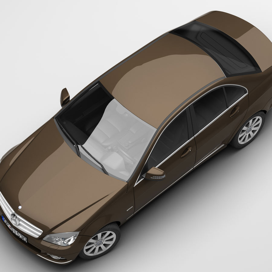 Mercedes C-Class 2008 royalty-free 3d model - Preview no. 7
