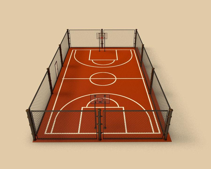 Баскетбольная площадка royalty-free 3d model - Preview no. 1
