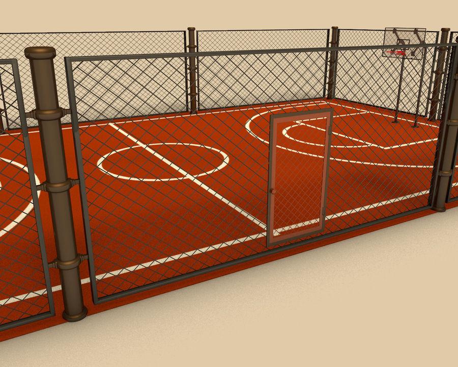 Баскетбольная площадка royalty-free 3d model - Preview no. 3