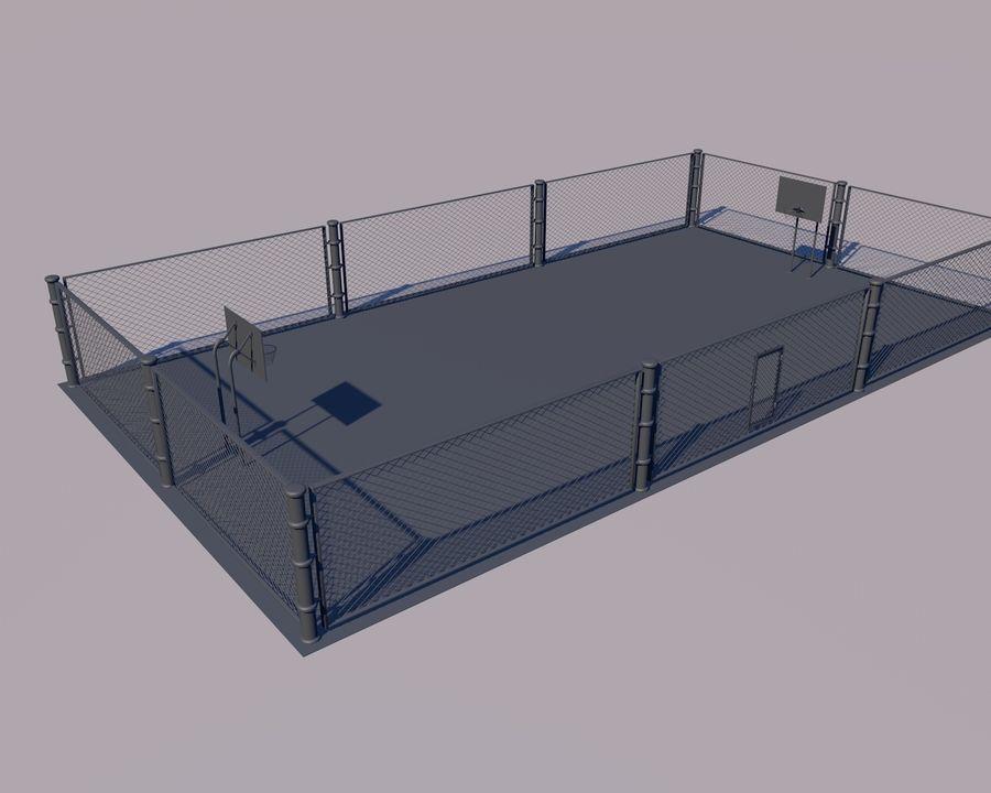 Баскетбольная площадка royalty-free 3d model - Preview no. 5