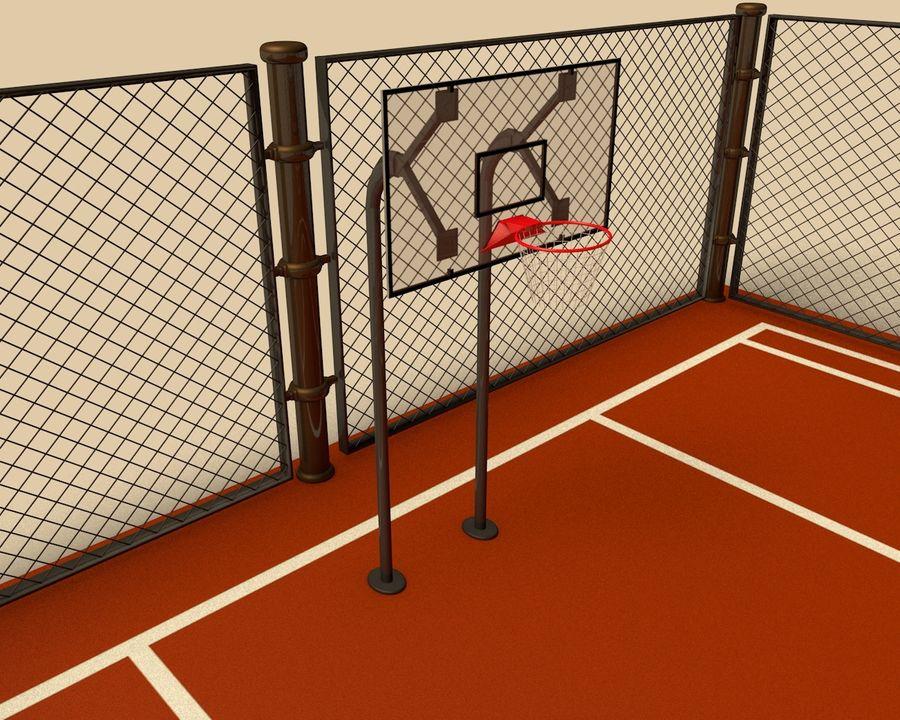 Баскетбольная площадка royalty-free 3d model - Preview no. 4