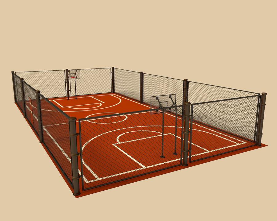 Баскетбольная площадка royalty-free 3d model - Preview no. 2