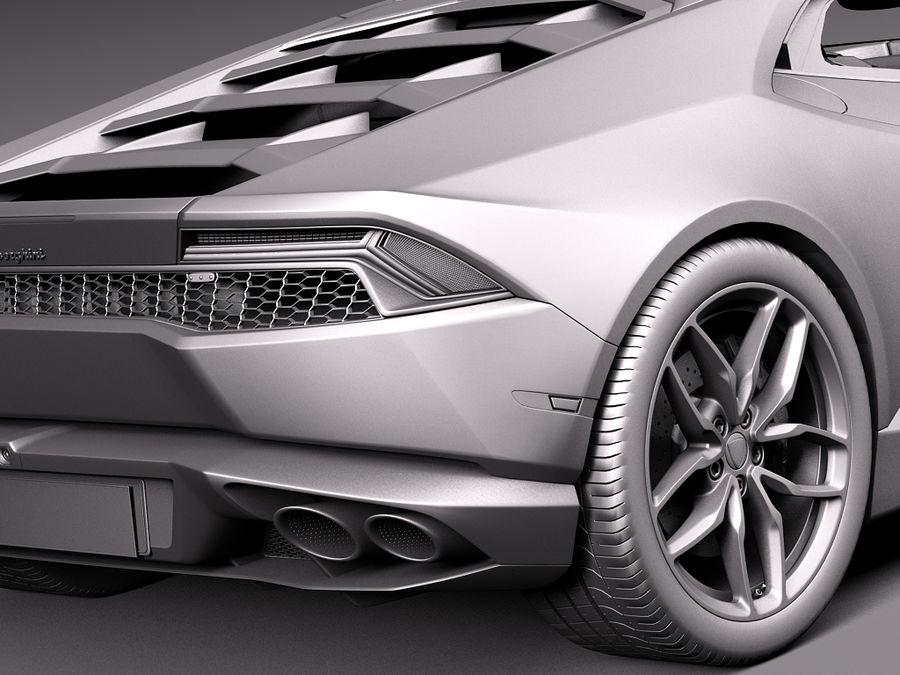 Lamborghini Huracan 2015 Italian Polizia royalty-free 3d model - Preview no. 13