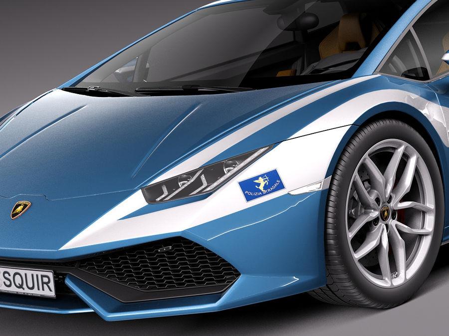 Lamborghini Huracan 2015 Italian Polizia royalty-free 3d model - Preview no. 20