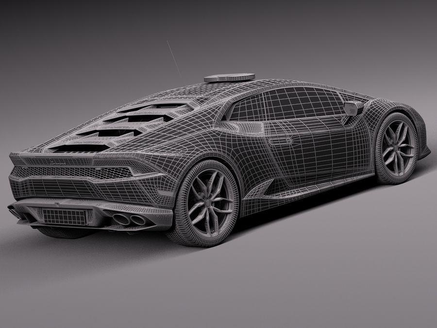 Lamborghini Huracan 2015 Italian Polizia royalty-free 3d model - Preview no. 33