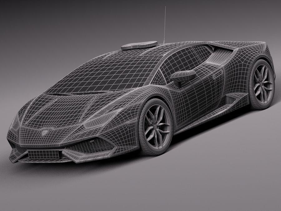 Lamborghini Huracan 2015 Italian Polizia royalty-free 3d model - Preview no. 32