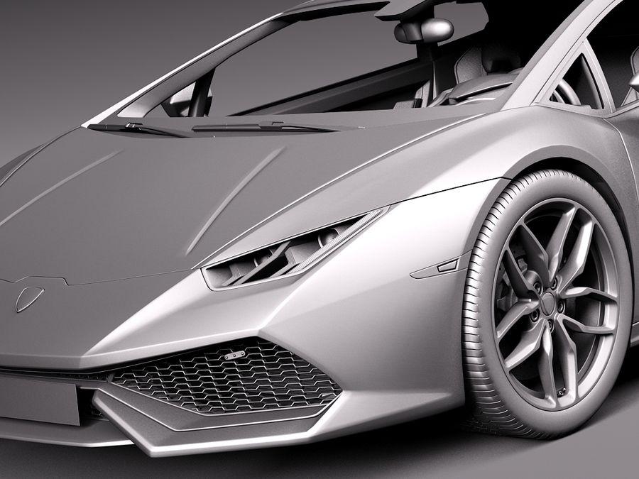 Lamborghini Huracan 2015 Italian Polizia royalty-free 3d model - Preview no. 12