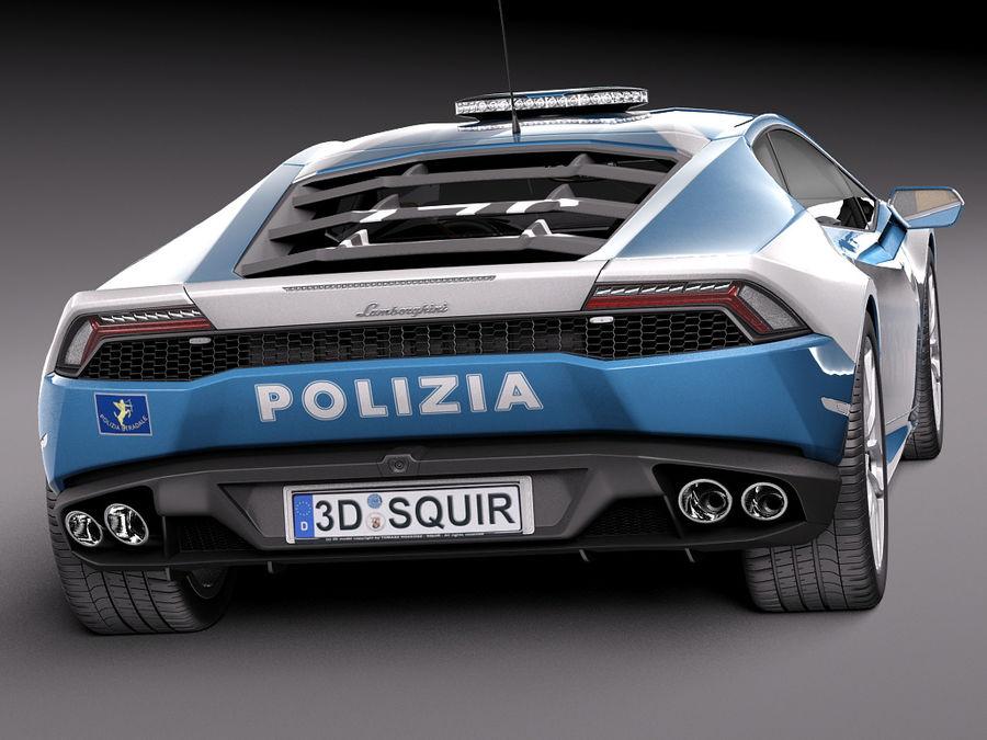 Lamborghini Huracan 2015 Italian Polizia royalty-free 3d model - Preview no. 23