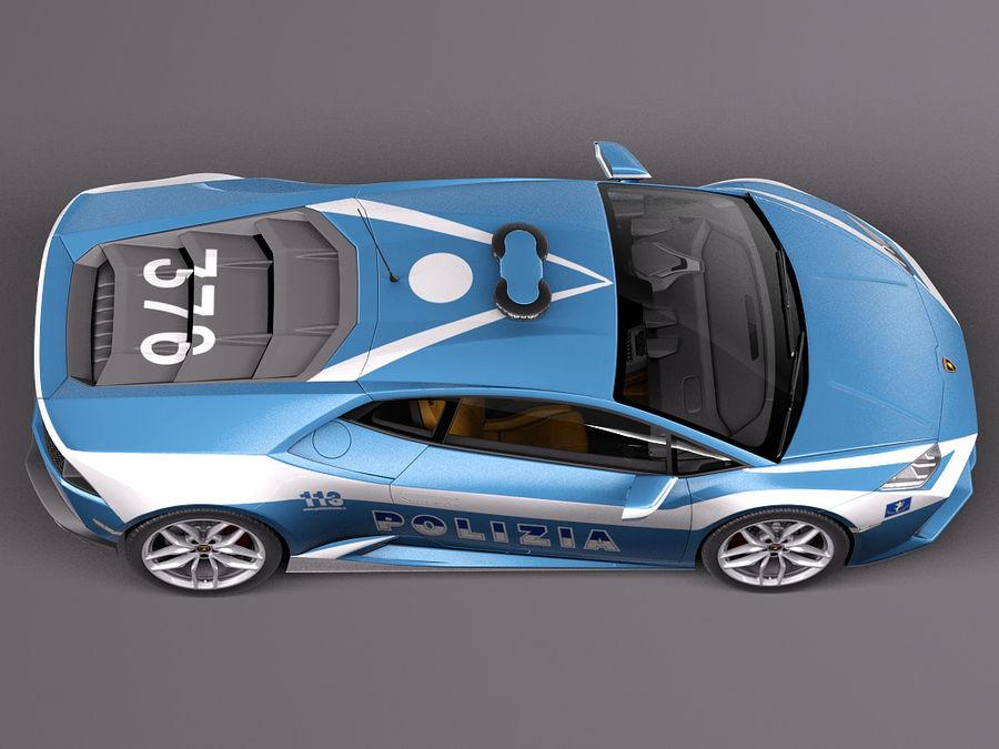 Lamborghini Huracan 2015 Italian Polizia royalty-free 3d model - Preview no. 8