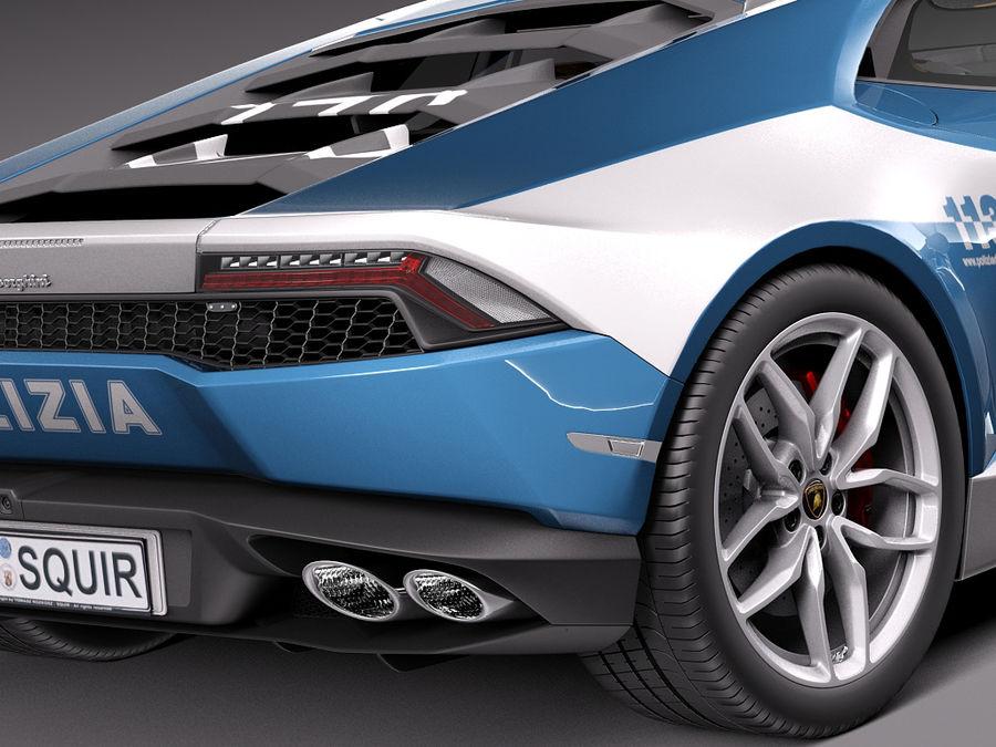 Lamborghini Huracan 2015 Italian Polizia royalty-free 3d model - Preview no. 21