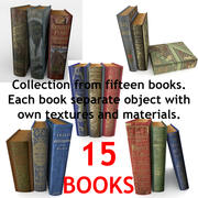 Books Collection Low Poly 3d model