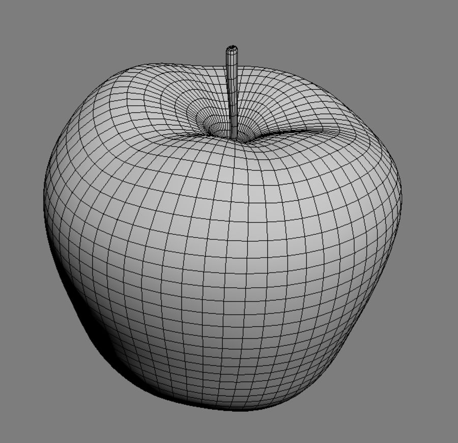 Red apple royalty-free 3d model - Preview no. 3