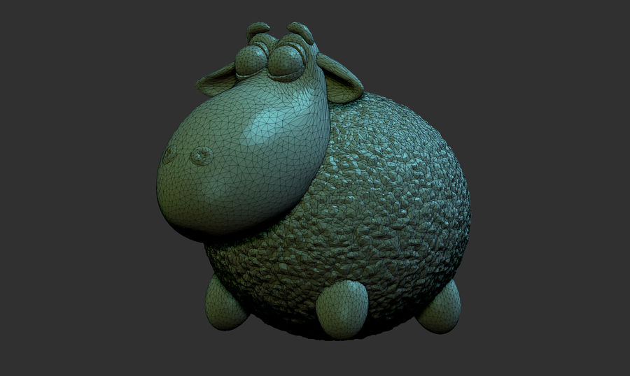 Sheep family royalty-free 3d model - Preview no. 3