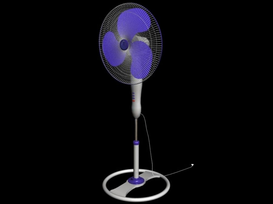 3d model of fan machine(1) royalty-free 3d model - Preview no. 1