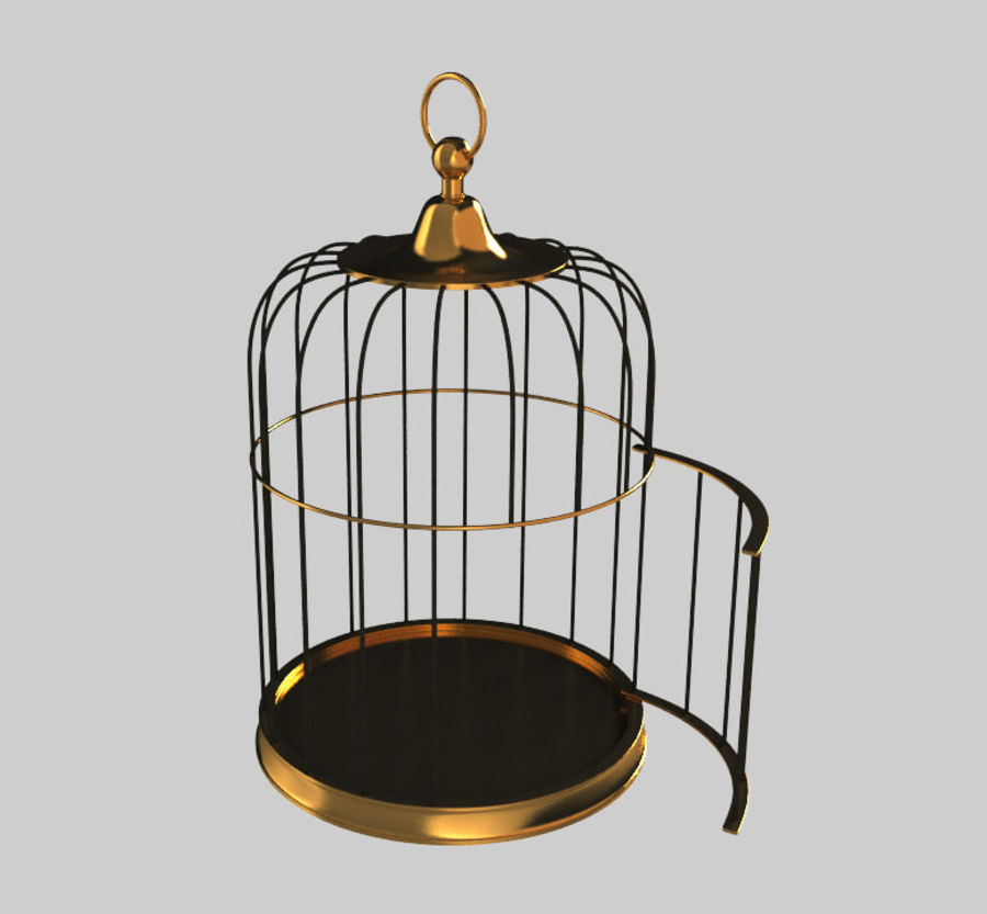 Cage à oiseaux royalty-free 3d model - Preview no. 1