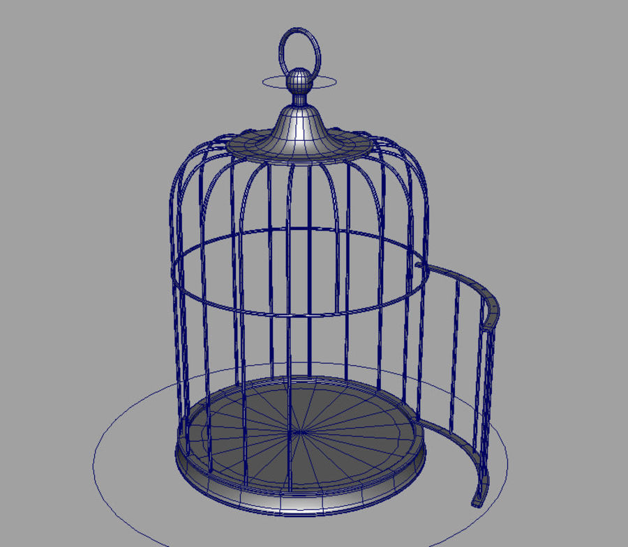 Cage à oiseaux royalty-free 3d model - Preview no. 2