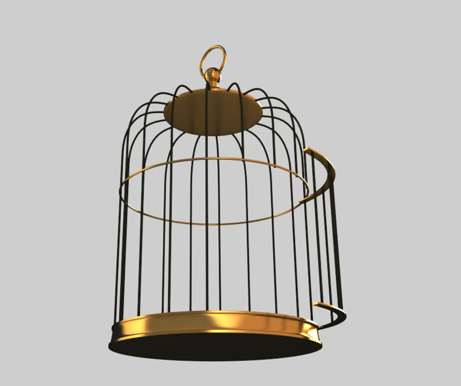 Cage à oiseaux royalty-free 3d model - Preview no. 3