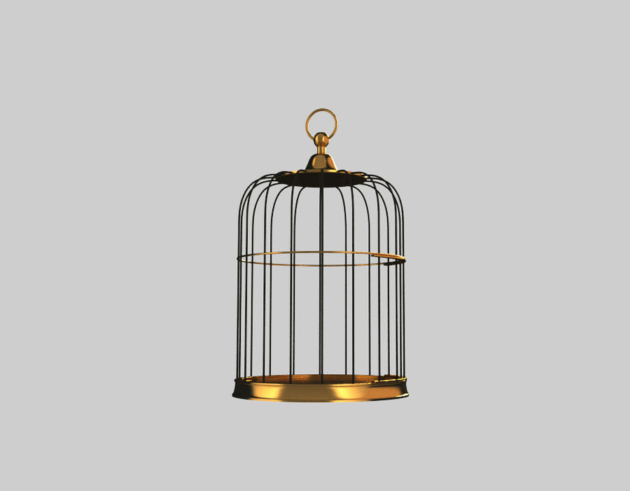 Cage à oiseaux royalty-free 3d model - Preview no. 4