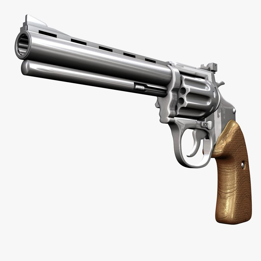 Revolver royalty-free 3d model - Preview no. 2