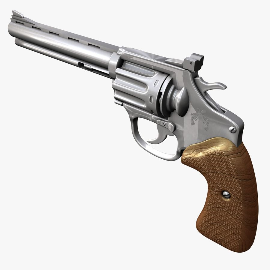 Revolver royalty-free 3d model - Preview no. 3
