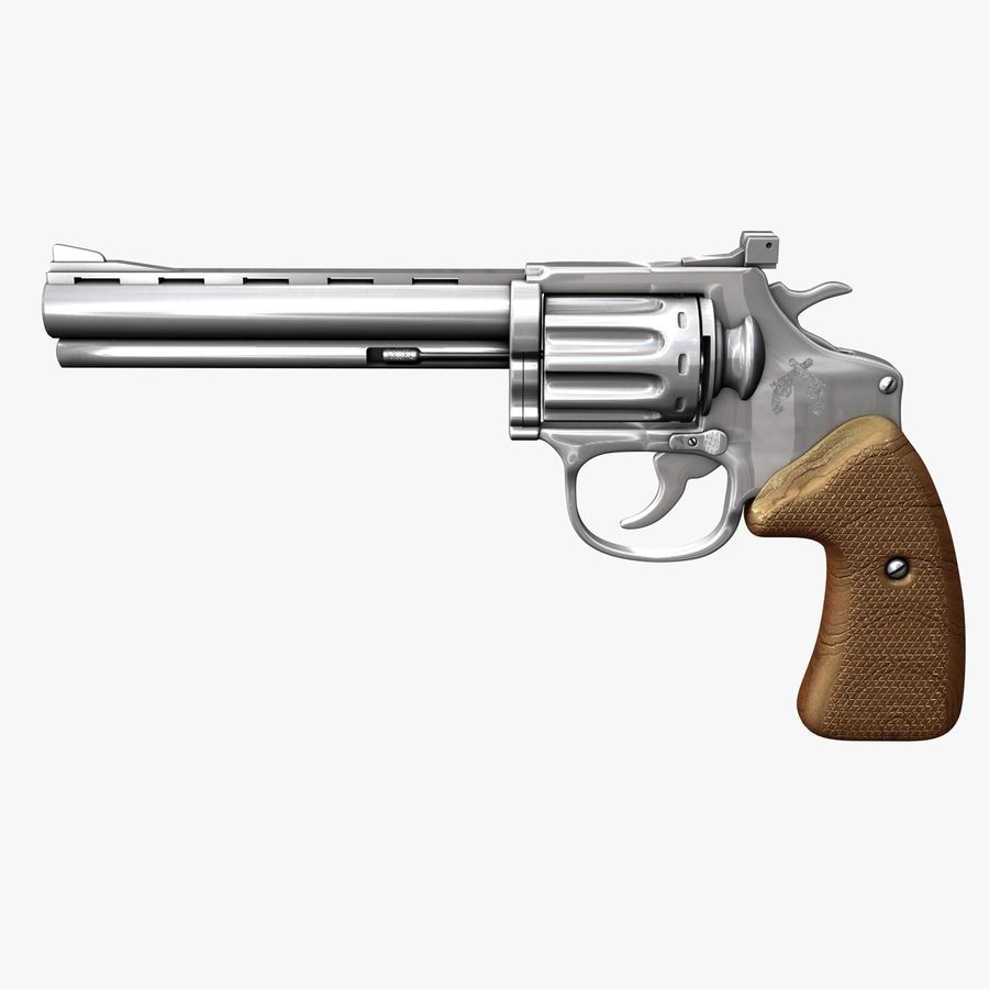 Revolver royalty-free 3d model - Preview no. 1