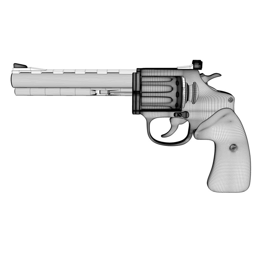 Revolver royalty-free 3d model - Preview no. 12