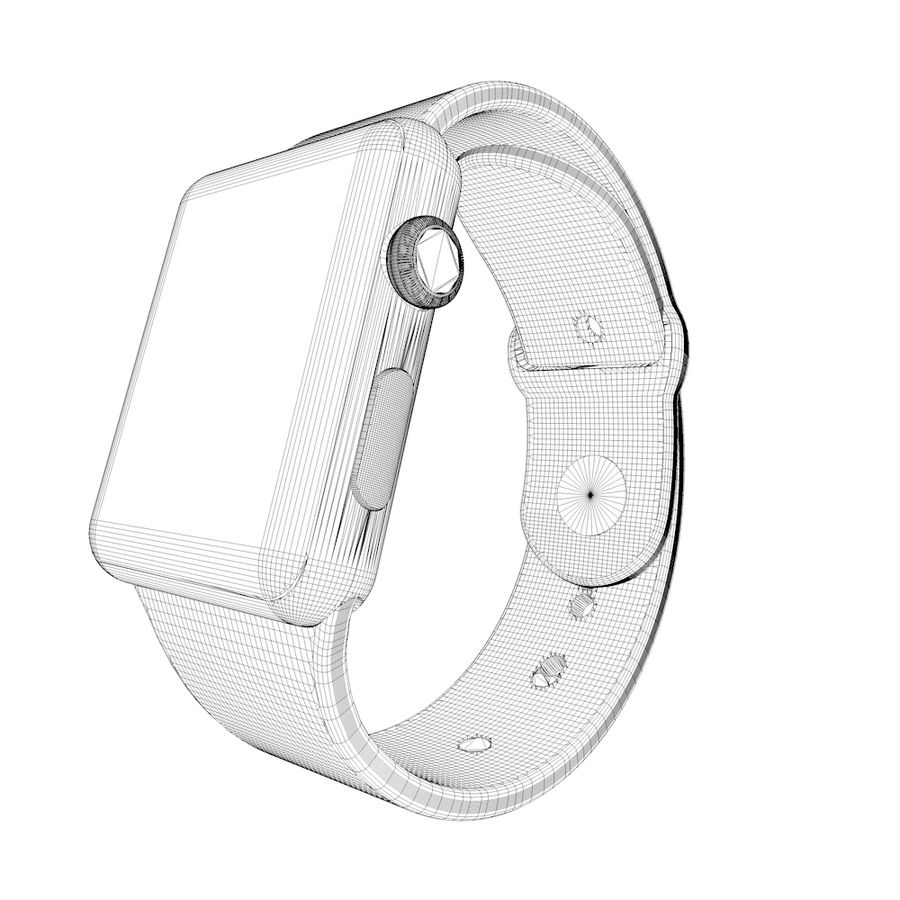 Apple Watch royalty-free 3d model - Preview no. 8