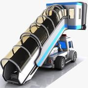 Cartoon Stair Car 3d model