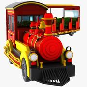 Cartoon Mini Electric Fun Train 3d model