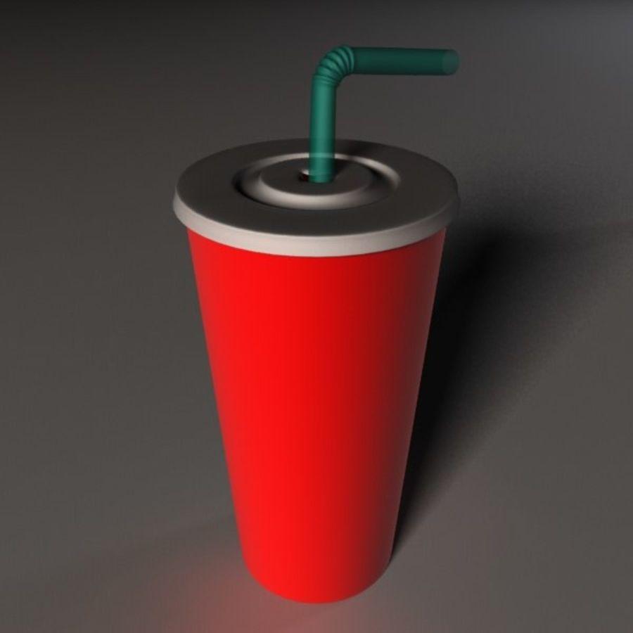 Fast Food Kupası royalty-free 3d model - Preview no. 3