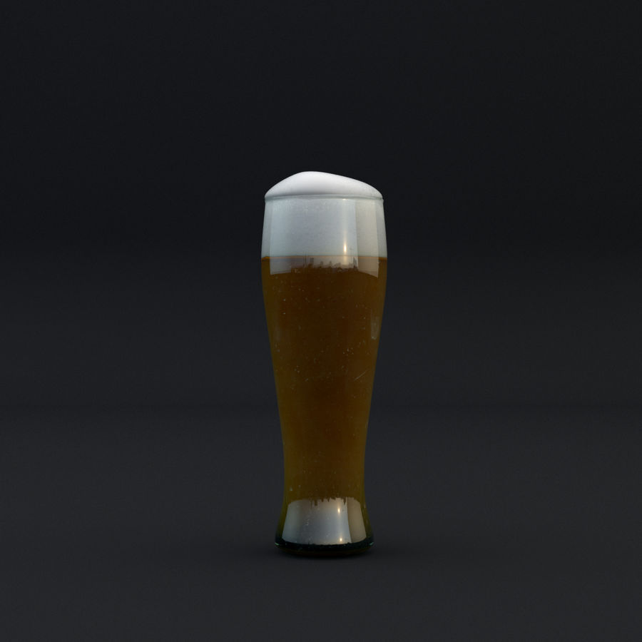 Beer glass royalty-free 3d model - Preview no. 10