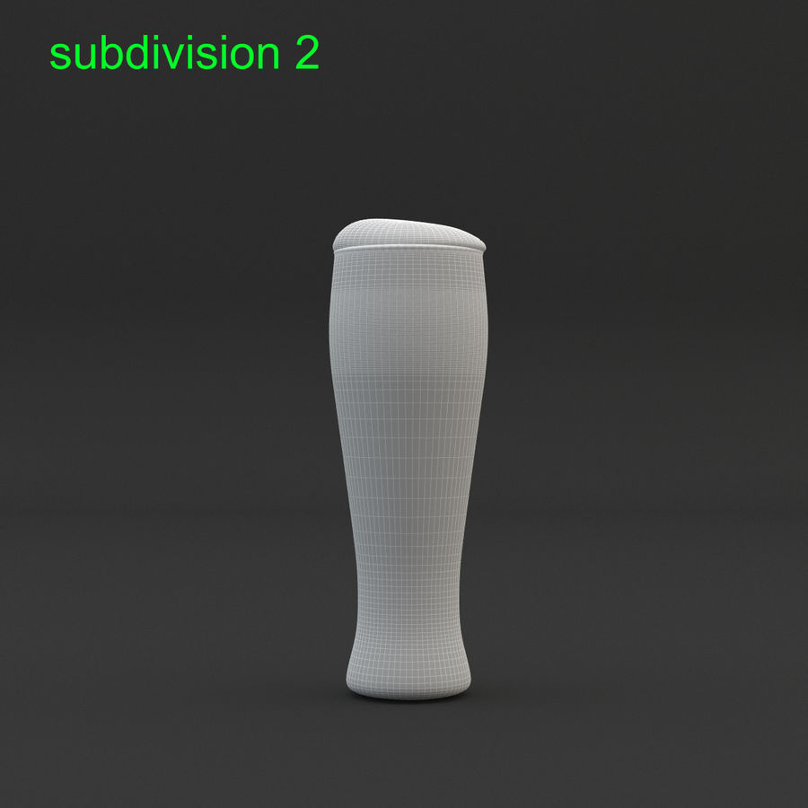 Beer glass royalty-free 3d model - Preview no. 21