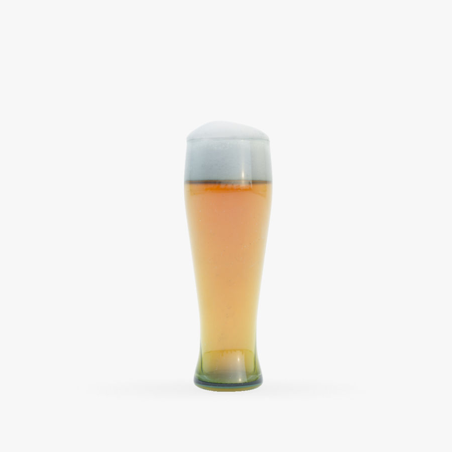 Beer glass royalty-free 3d model - Preview no. 9
