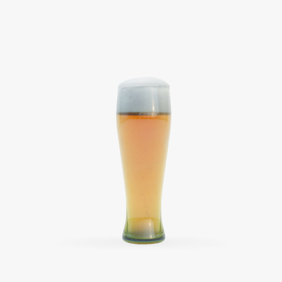 Beer glass royalty-free 3d model - Preview no. 3