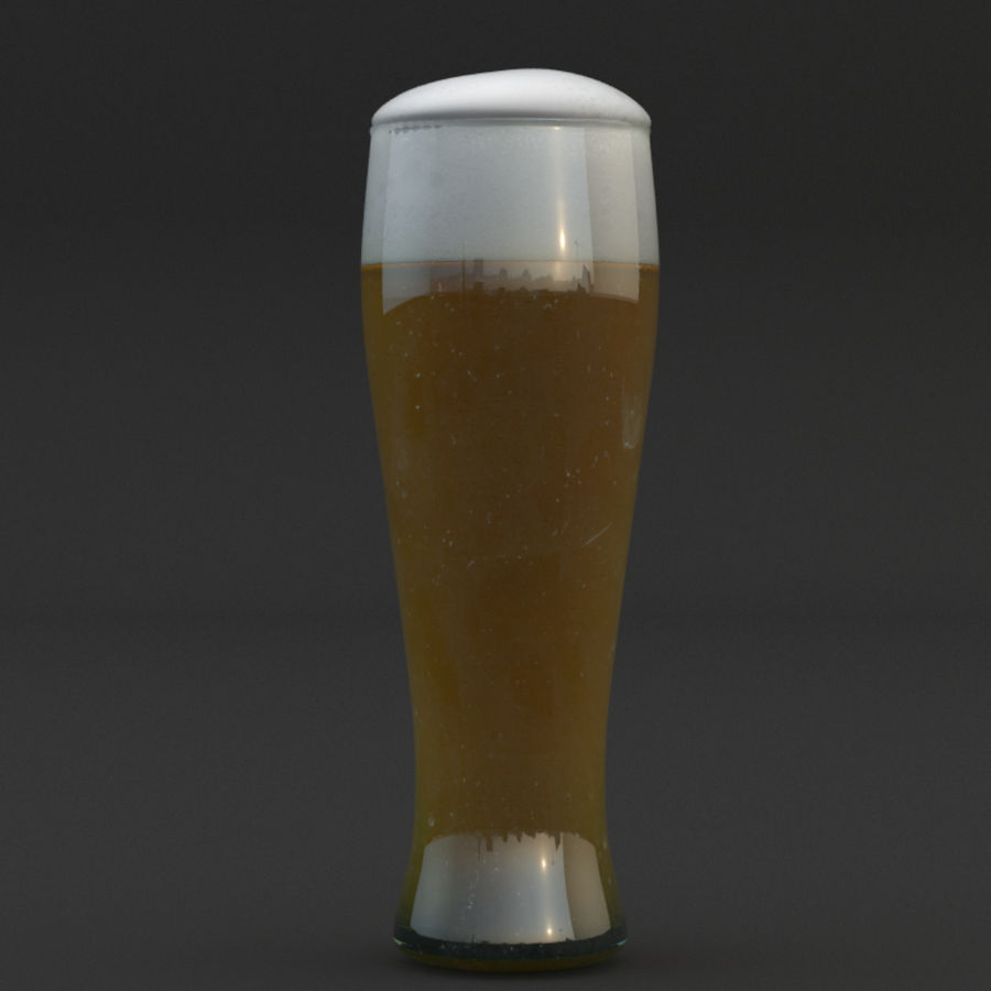 Beer glass royalty-free 3d model - Preview no. 2