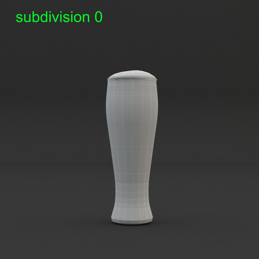 Beer glass royalty-free 3d model - Preview no. 13