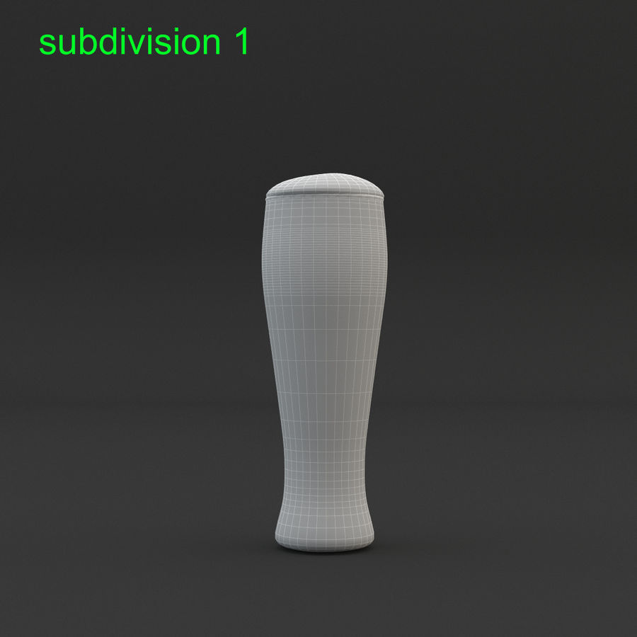 Beer glass royalty-free 3d model - Preview no. 16