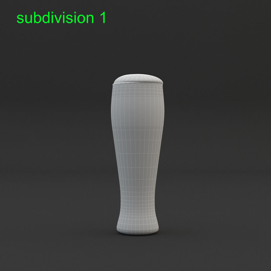 Beer glass royalty-free 3d model - Preview no. 17