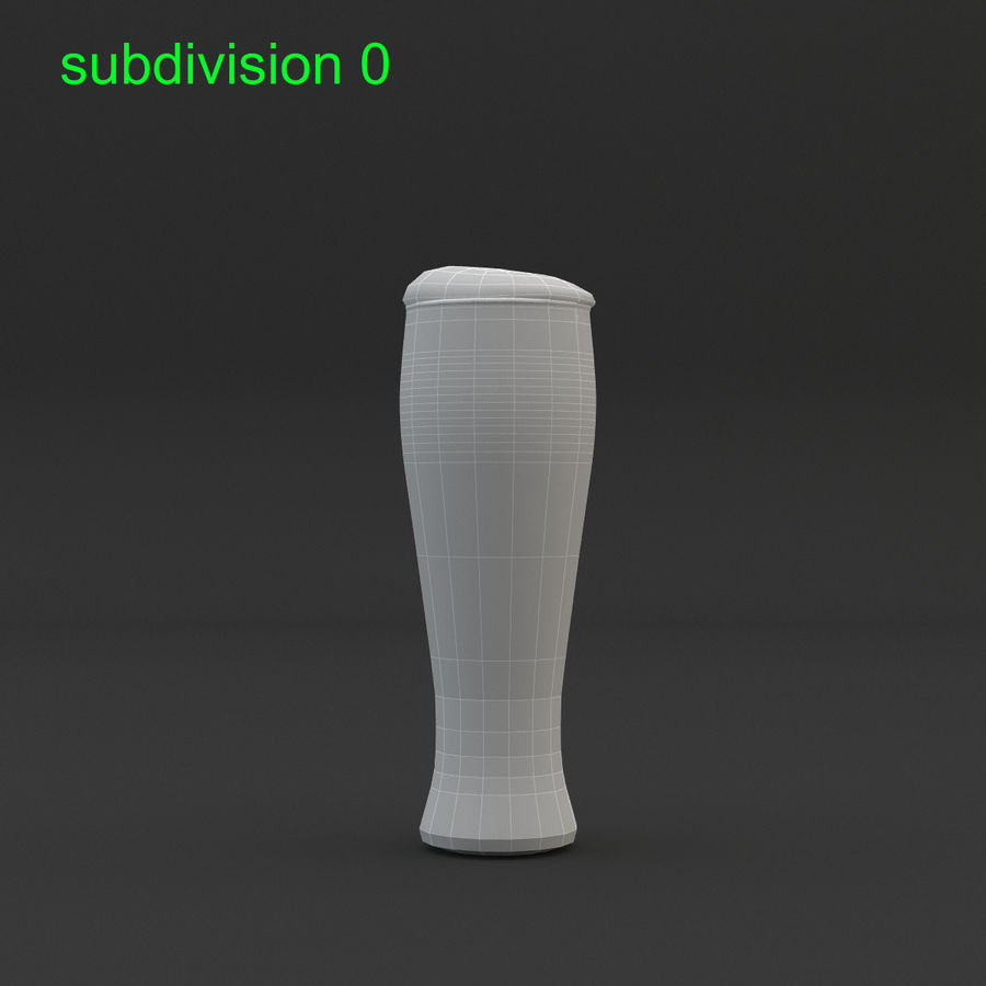 Beer glass royalty-free 3d model - Preview no. 15