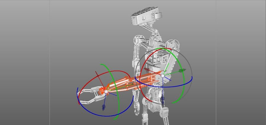 Robot rigged royalty-free 3d model - Preview no. 12