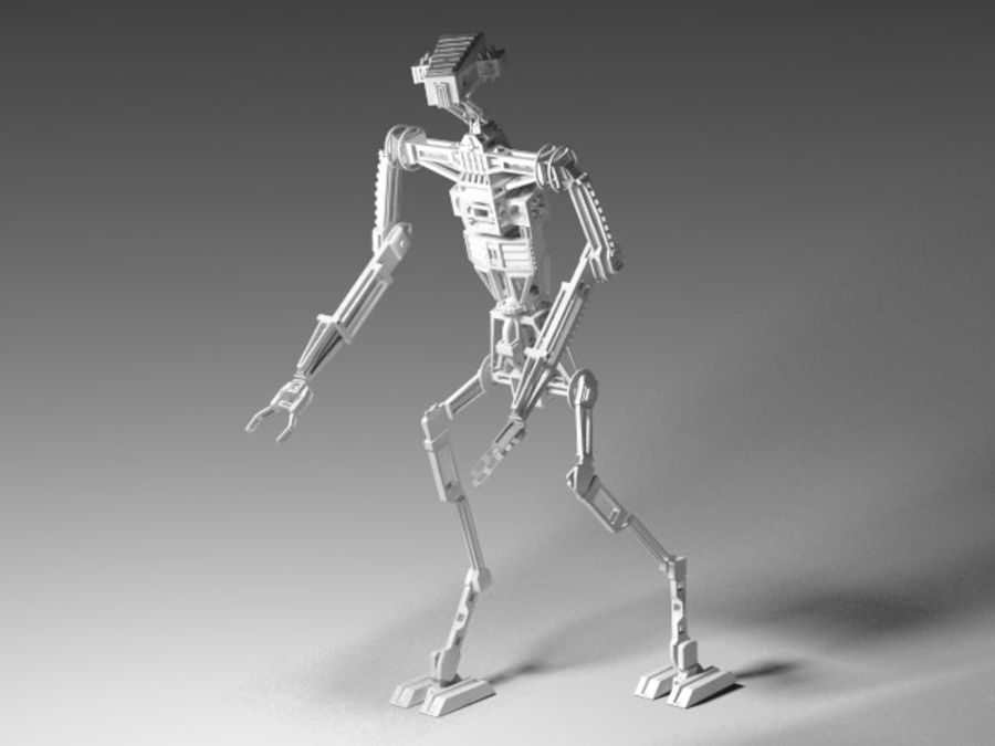 Robot rigged royalty-free 3d model - Preview no. 3