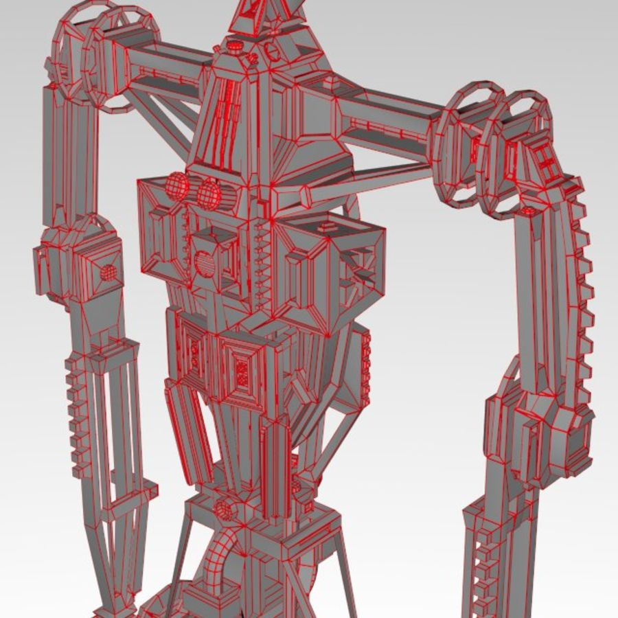 Robot rigged royalty-free 3d model - Preview no. 14